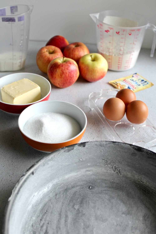 ingredients-gateau-aux-pommes