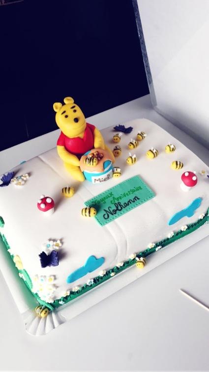 Cake design Winnie L'ourson