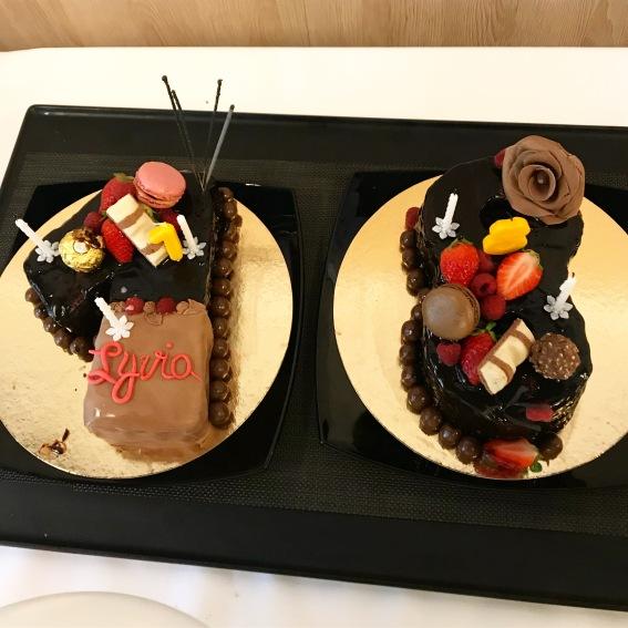 Gâteau d'anniversaire number cake au chocolat